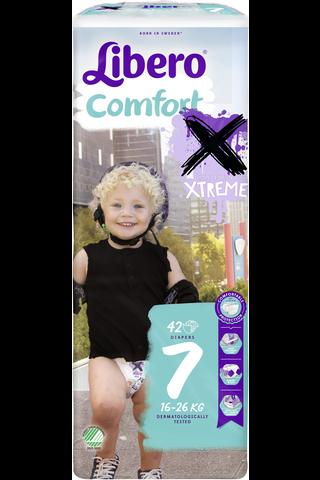 Libero Comfort Xtreme 16-26kg, koko 7, 42kpl