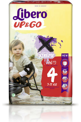 Libero Up&Go 46kpl koko 4, 7-11kg Housuvaippa