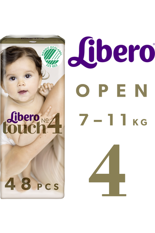 Libero Touch Teippivaippa koko 4 7-11kg 48kpl