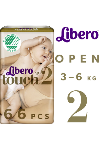 Libero Touch Teippivaippa koko 2 3-6kg 66 kpl