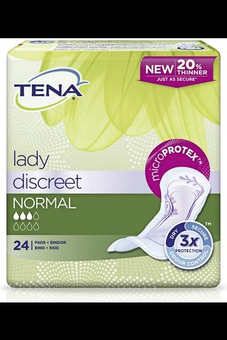 TENA lady inkontinenssisuoja Discreet Normal 24 kpl
