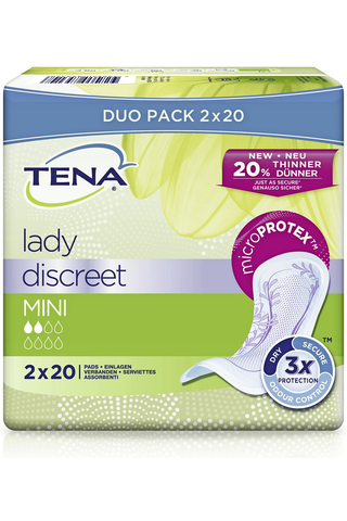 TENA lady inkontinenssisuoja Discreet Mini 40 kpl