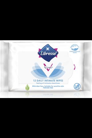 Libresse Intiimipyyhe V-care, 12kpl