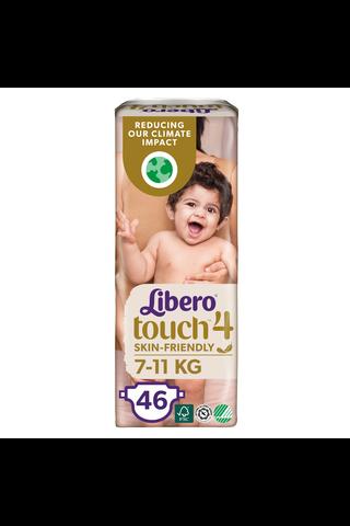 Libero Touch teippivaippa koko 4, 7-11kg 46 kpl