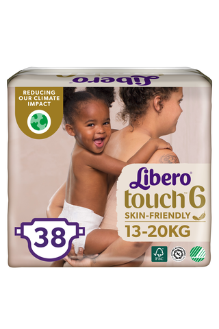 Libero Touch teippivaippa koko 6, 13-20kg 38 kpl