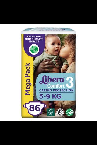 Libero Comfort teippivaippa koko 3,  5-9 kg, 86 kpl