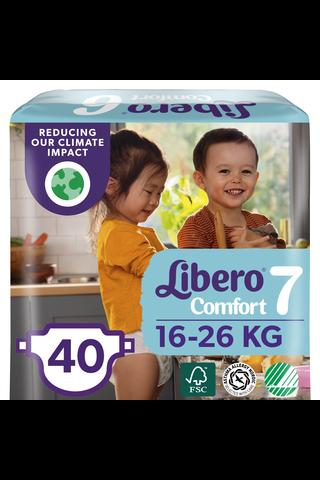 Libero Comfort teippivaippa koko 7,  16-26 kg, 40 kpl