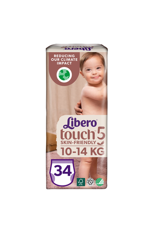 Libero Touch housuvaippa koko 5, 10-14 kg, 34 kpl