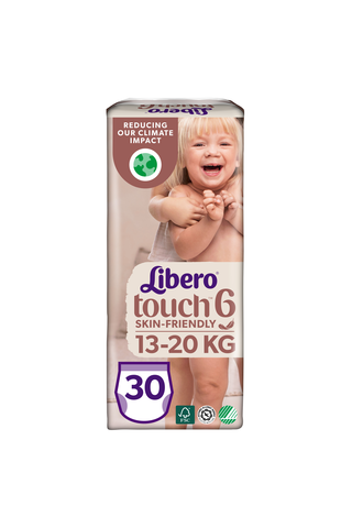 Libero Touch housuvaippa koko 6, 13-20 kg, 30 kpl