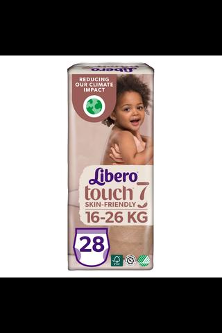 Libero Touch housuvaippa koko 7, 16-26 kg, 28 kpl