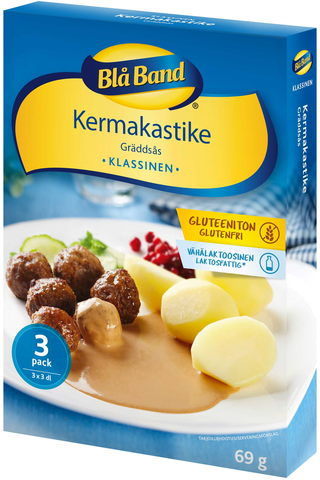Blå Band gluteeniton vähälaktoosinen Kermakastike 3x23g