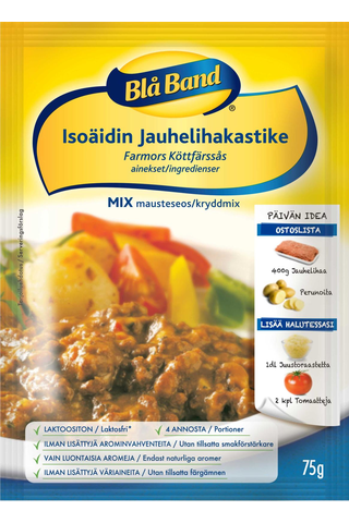 Blå Band Mix laktoositon Isoäidin Jauhelihakastikeainekset mausteseos 75g