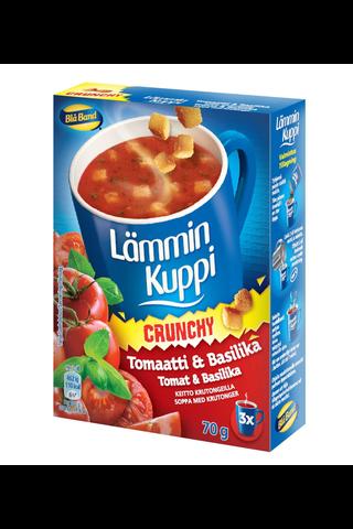 Blå Band 3x23g Lämmin Kuppi Crunchy tomaatti-basilikakeitto krutongeilla