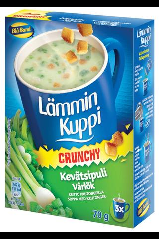 Blå Band 3x23g Lämmin Kuppi Crunchy kevätsipulikeitto krutongeilla