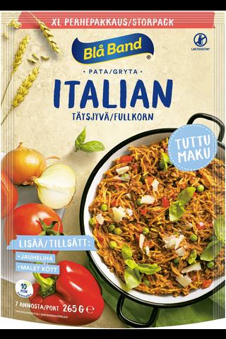 Blå Band laktoositon täysjyvä Italian pata XL perhepakkaus täysjyväspagetti-kasvis-mausteseos 265g