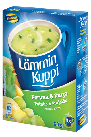 Blå Band 3x20g Lämmin Kuppi peruna-purjokeitto
