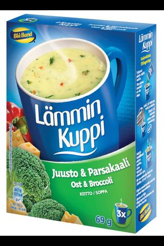 Blå Band 3x23g Lämmin Kuppi juusto-parsakaalikeitto