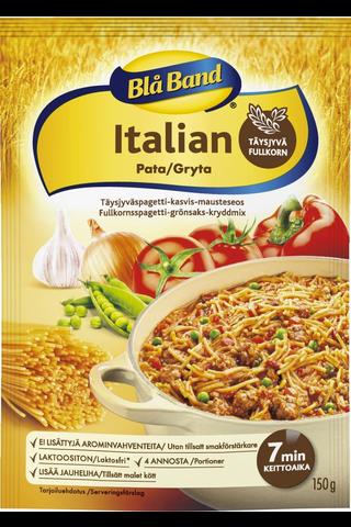 Blå Band laktoositon Täysjyvä Italian Pata Täysjyväspagetti-kasvis-mausteseos 150g