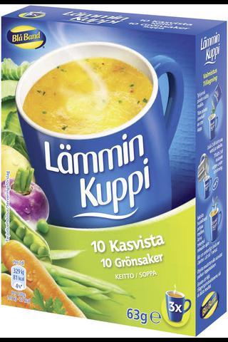 Blå Band 3x21g Lämmin Kuppi 10 kasvista keitto