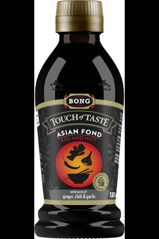 Bong Touch of Taste 180ml Asian Red and Hot fondi inkivääri-chili-valkosipuli