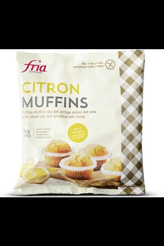 Fria Sitruunamuffinit 210g/4kpl gluteeniton pakaste
