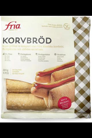 Fria 220g/5kpl Hot Dog Sämpylä pakaste