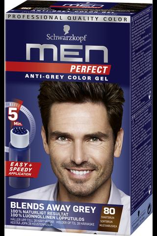 Schwarzkopf Men Perfect 80 Mustanruskea hiusväri