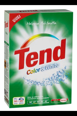 Tend 1,8kg Color & White pyykinpesujauhe kirjo- ja valkopyykille