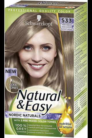 Schwarzkopf Natural & Easy 563 Viileä Vaaleanruskea hiusväri