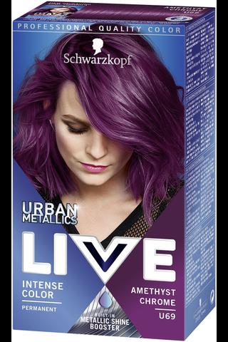 Schwarzkopf Live U71 Metallic Silver hiusväri