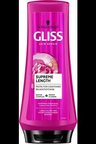 Schwarzkopf Gliss 200ml Supreme Length hoitoaine