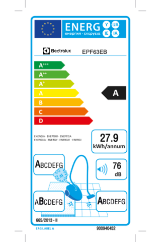 Electrolux pölynimuri EPF63EB PowerForce