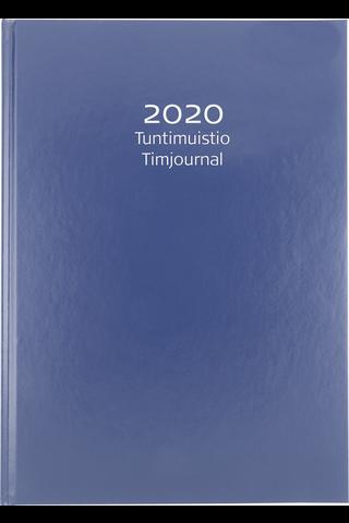 Ajanvarauskirja 2020 Tuntimuistio sininen keinonhakakansi,A4 Burde