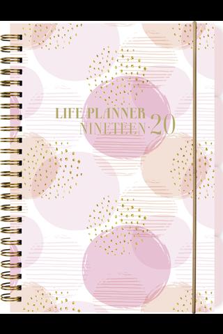 Teemakalenteri 2020 Life Planner pink Burde
