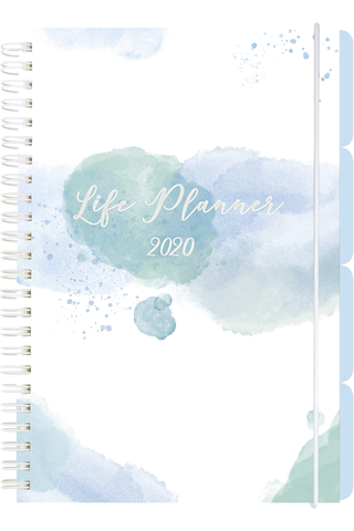 Teemakalenteri 2020 Life Planner blue Burde