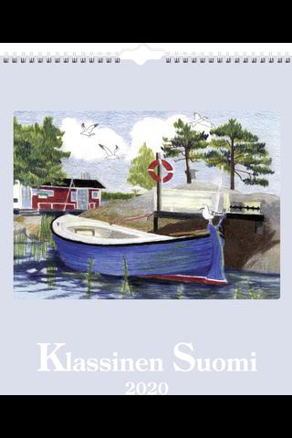 Seinäkalenteri 2020 Klassinen Suomi 297 x 420 mm  Burde