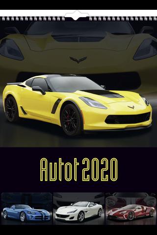 Seinäkalenteri 2020 Autot 295X390 mm Burde