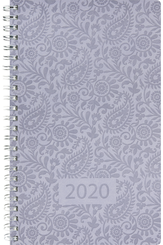 Taskukalenteri 2020 Exclusive Style sininen Burde