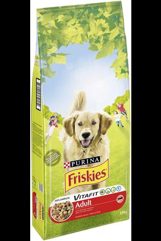 Friskies 15kg Adult Runsaasti Lihaa koiranruoka