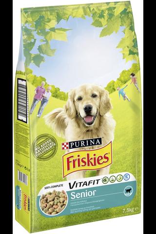 Friskies 7,5kg Senior Kanaa ja Kasviksia koiranruoka