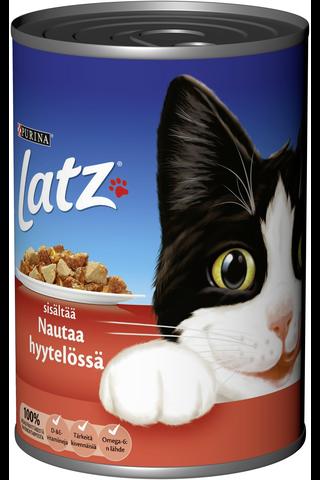 Latz 400g Sisältää Nautaa Hyytelössä kissanruoka