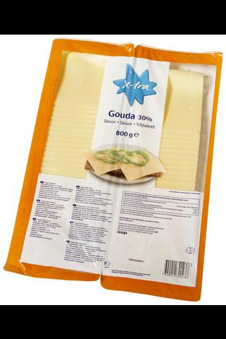 Xtra 800g 30% Gouda juustoviipaleet (2 x 400 g)