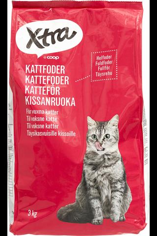 X-tra Kissanruoka, sisältää lihaa, 3 kg