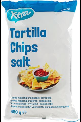 X-tra Tortilla chips 450 g