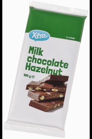 X-tra Milk chocolate hazelnut 100 g