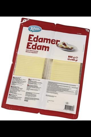 Xtra 800g 24% Edam juustoviipaleet (2 x 400 g)