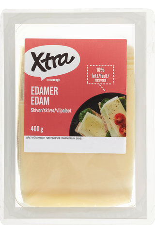 X-tra Edam viipaleet 16 %, 400 g