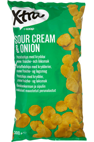 Sourcream & onion perunalastut 300g