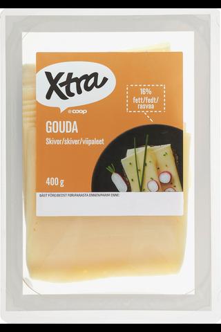 X-tra Gouda viipaleet 16 %, 400 g