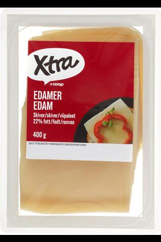 X-tra Edam viipaleet 22 %, 400 g